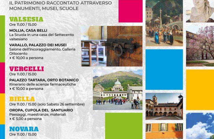 Scopri i territori di Biella, Vercelli, Valsesia, Novara e Verbano Cusio Ossola
